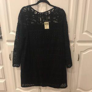 Lucky Brand Lace Black Dress